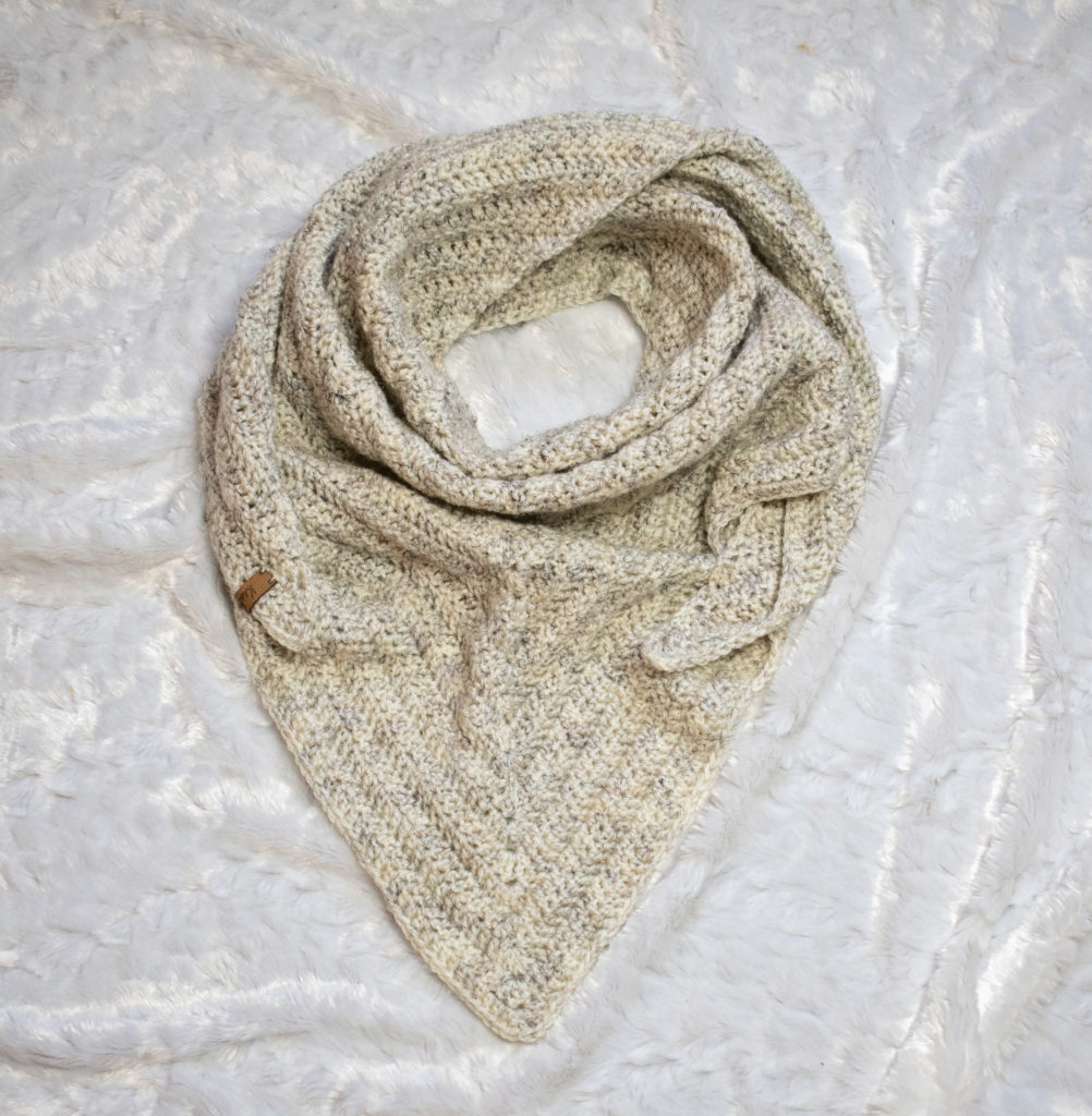 Quick and Simple Crochet Triangle Scarf Pattern * Keamesha